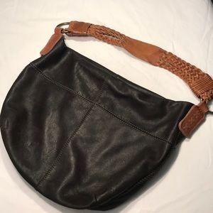 Lucky Brand Vintage Leather Hobo Bag Brown